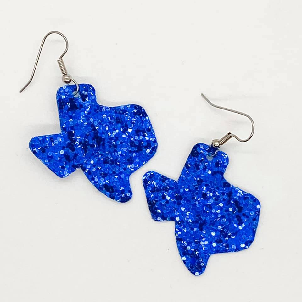 Texas Glitter Earrings