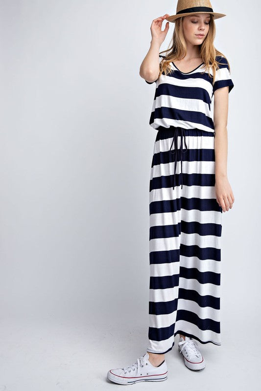Nautical Stripe Maxi Dress