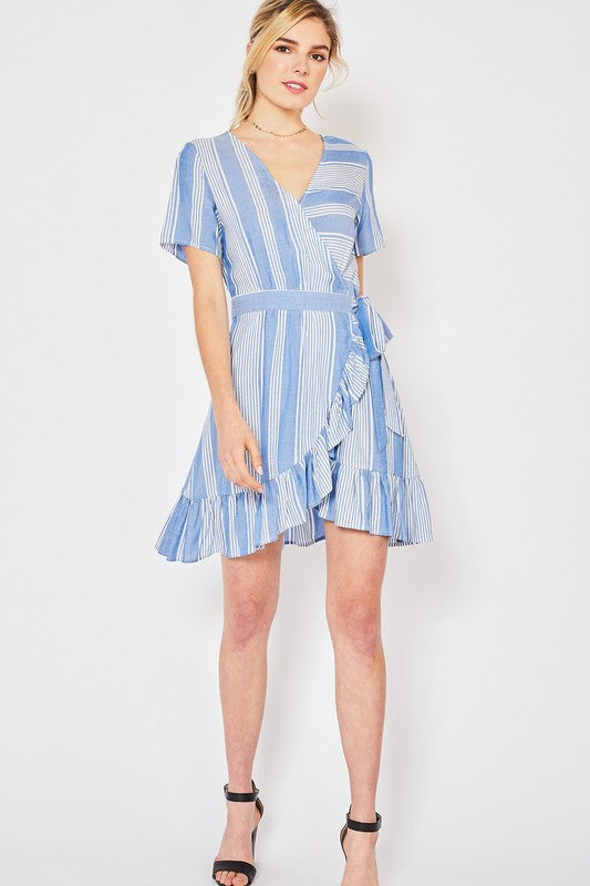 Ruffled Wrap Dress