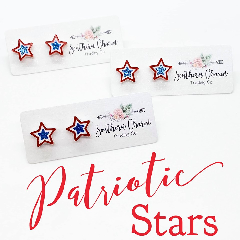 Patriotic Star Earrings