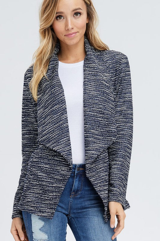 Textured Navy Blazer