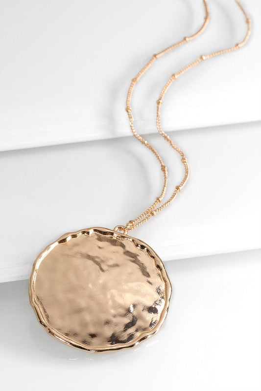 Hammered Round Necklace