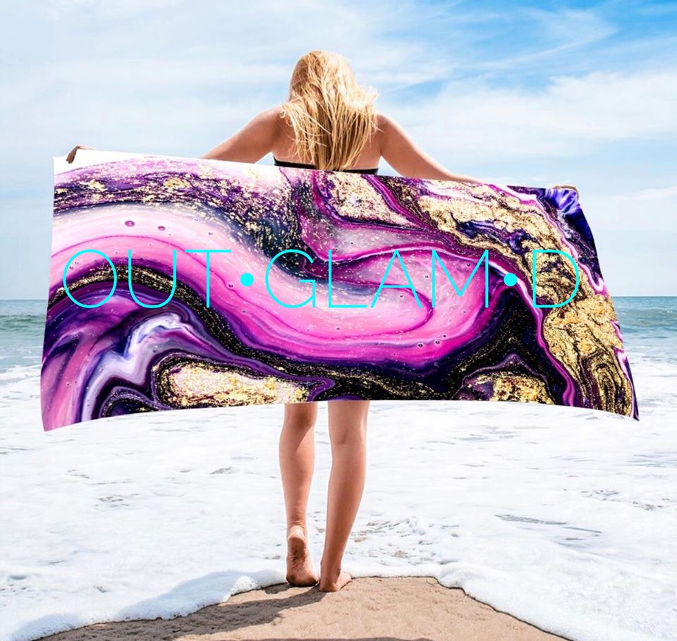 Geode Rectangle Towels