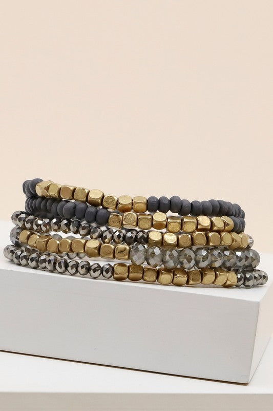 Metallic Bracelet Stack