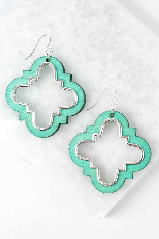 Clover Wood Earrings