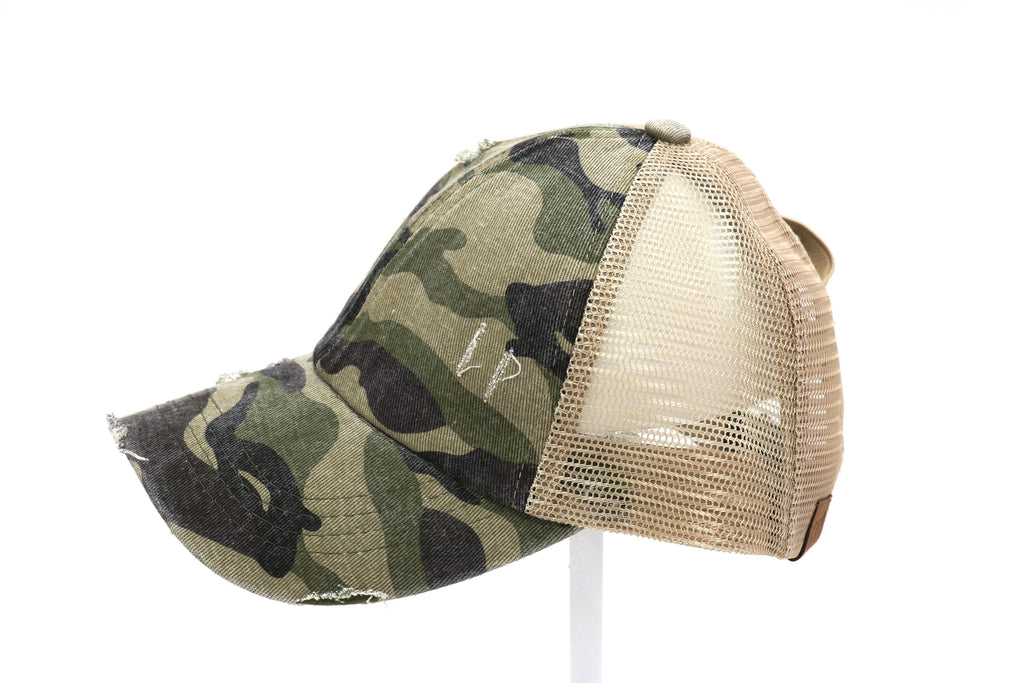 CC High Pony Cap, Camo