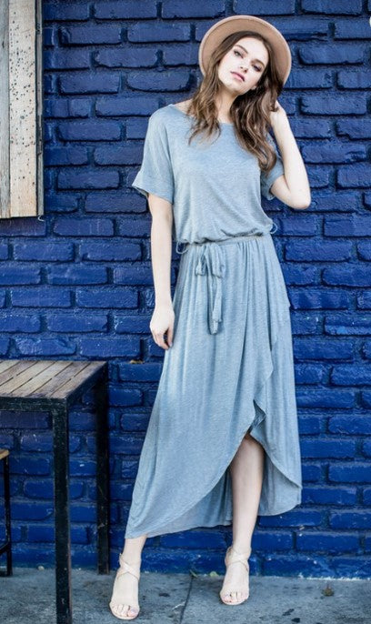 High Low Grey Dress