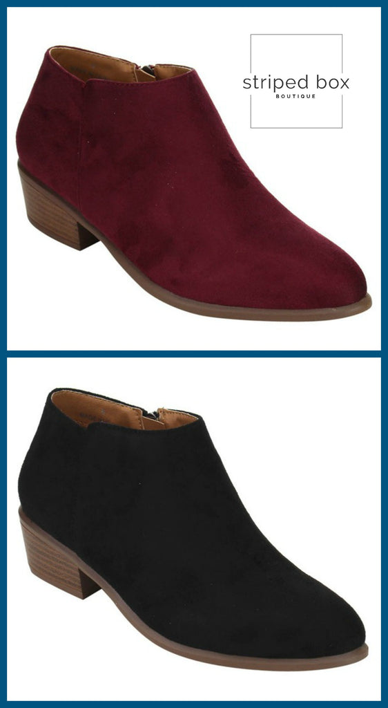 Faux Suede Short Booties