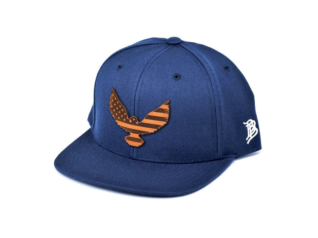Eagle Patch Classic Navy Snapback Hat