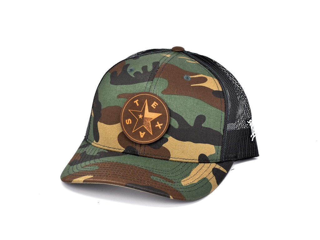 Texas Star Curved Trucker Hat