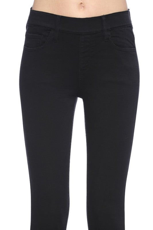 Black Crop Skinny Jeans