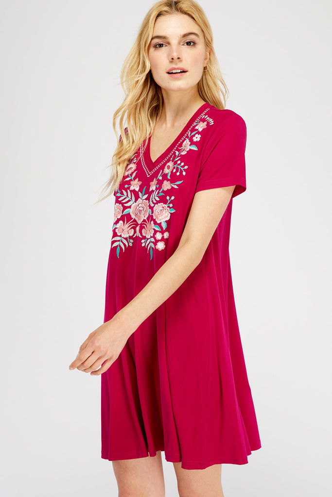 Blooming Embroidered Dress