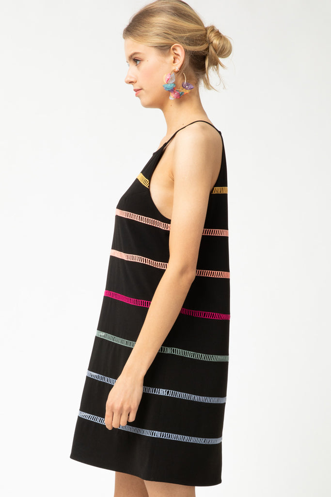 Rainbow Halter Dress
