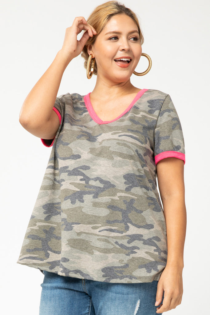 Pinked Out Camo Top
