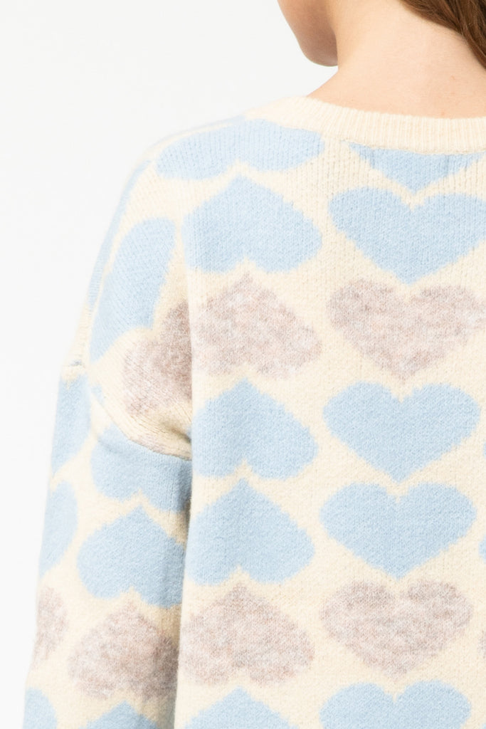 Heart Pattern Sweater