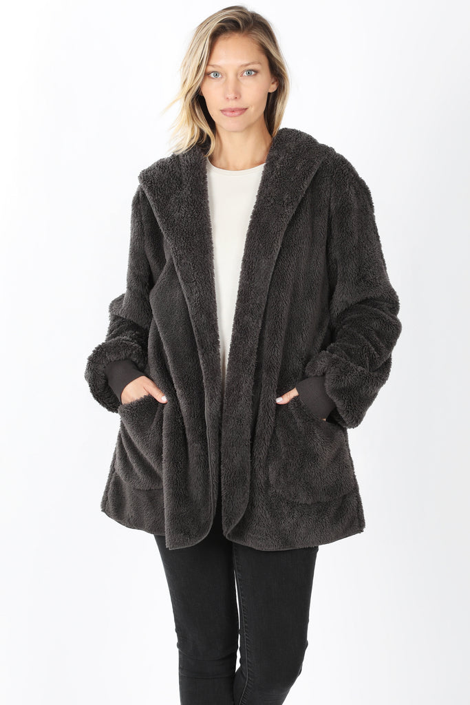 Furry Hooded Jacket