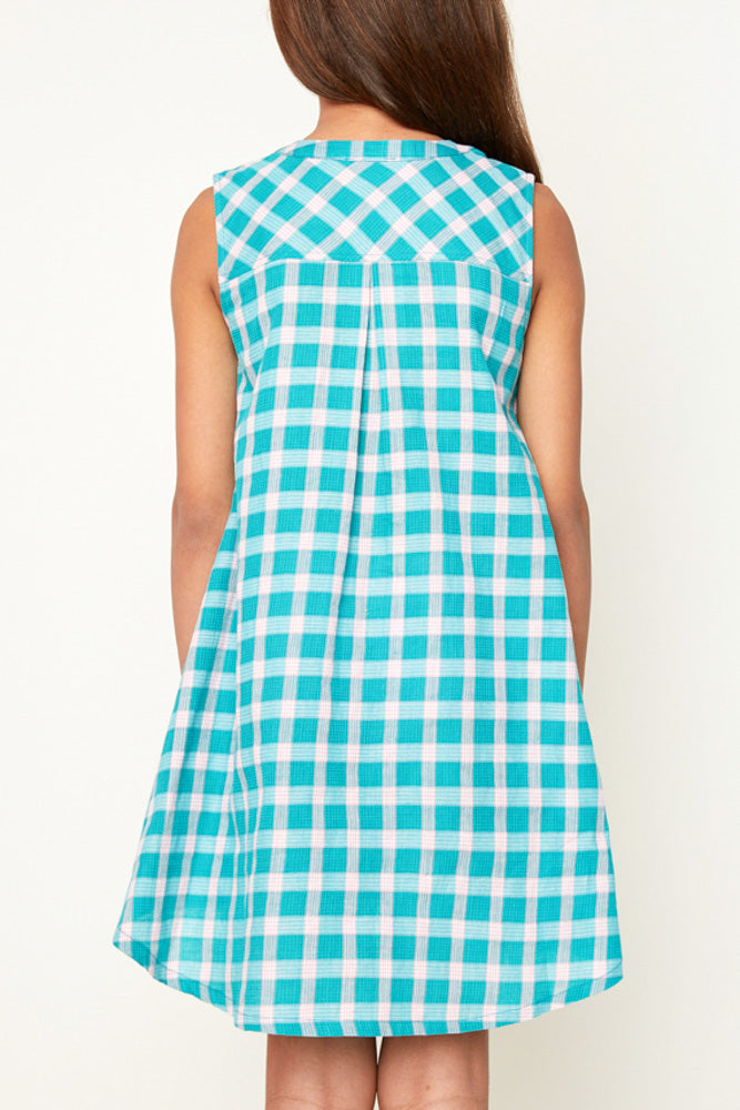 Sleeveless Plaid Dress