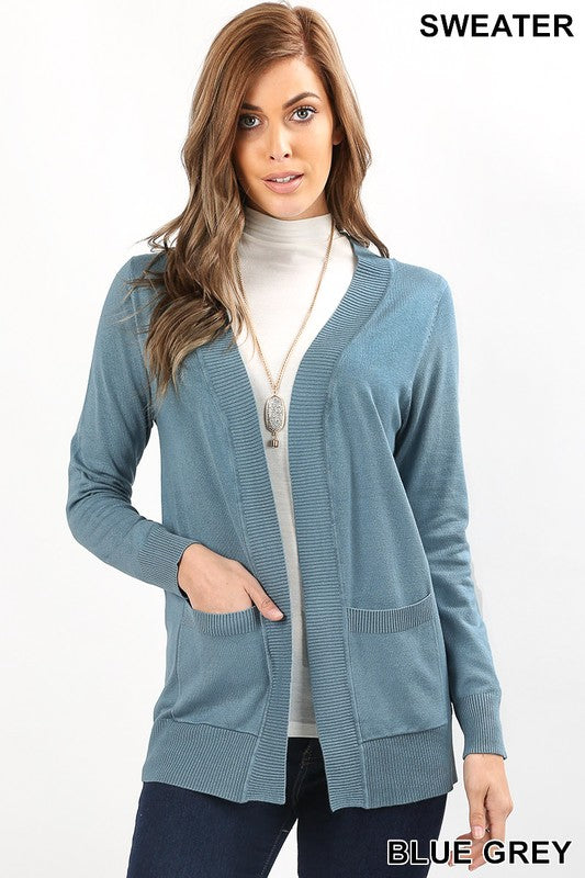 Cardigan Sweater with Pockets, More Colors