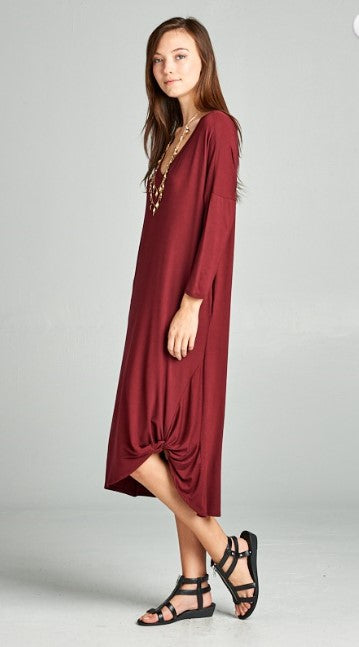 Jersey Side Knot Dress