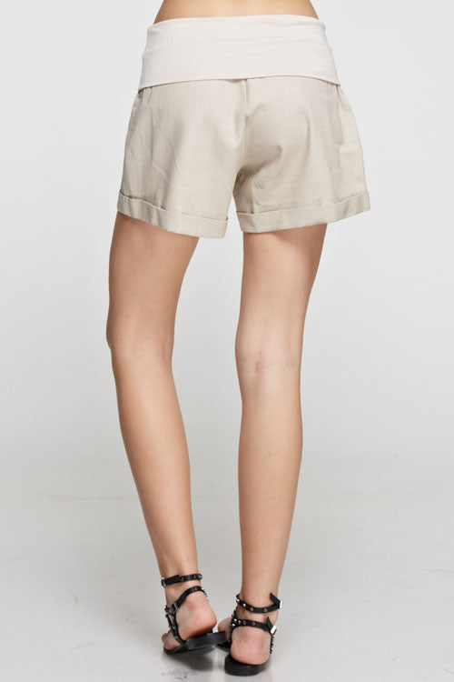 Linen Short with Soft Waist