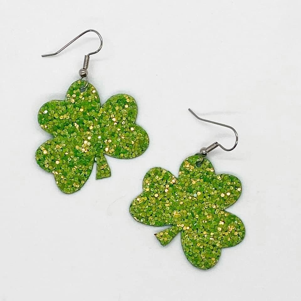 Shamrock Earrings, 2 Sizes