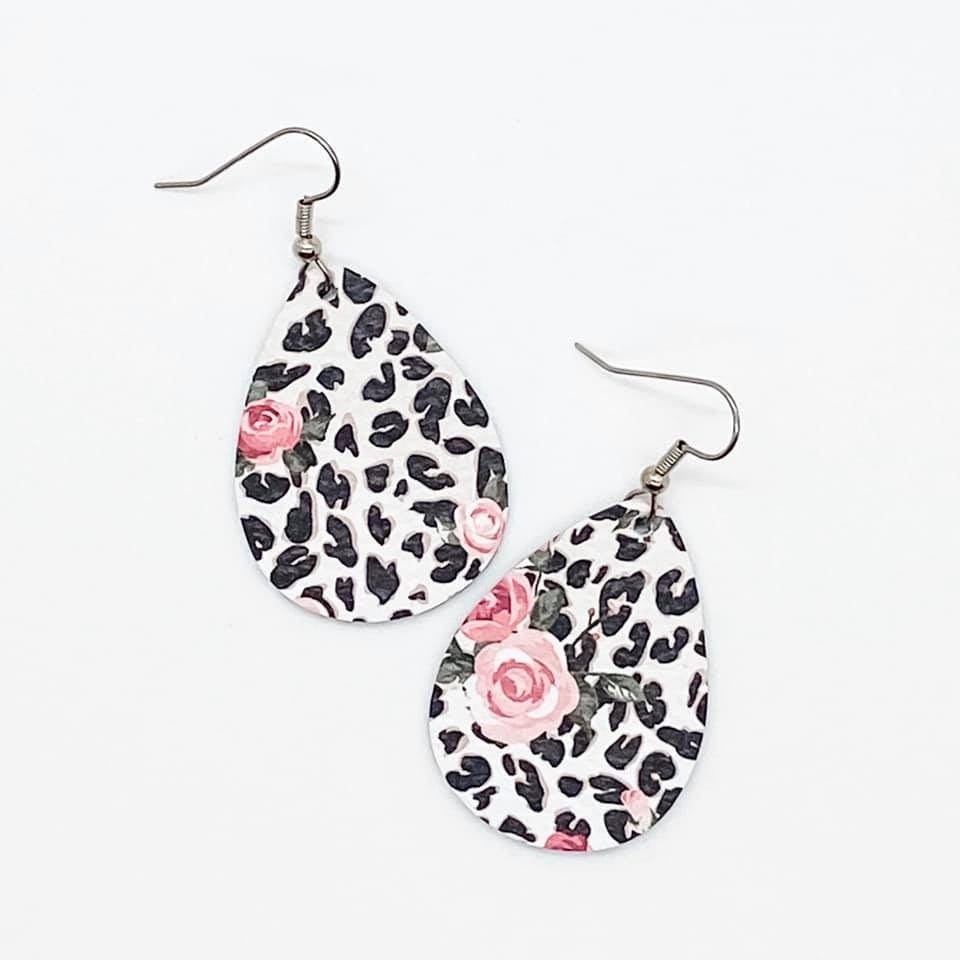 Leopard Earrings, 4 Varieties