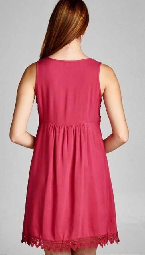 Strawberry Lace Trim Dress