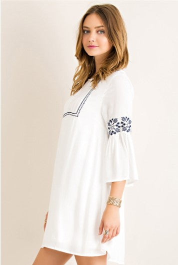 Embroidered Peasant Dress/Tunic