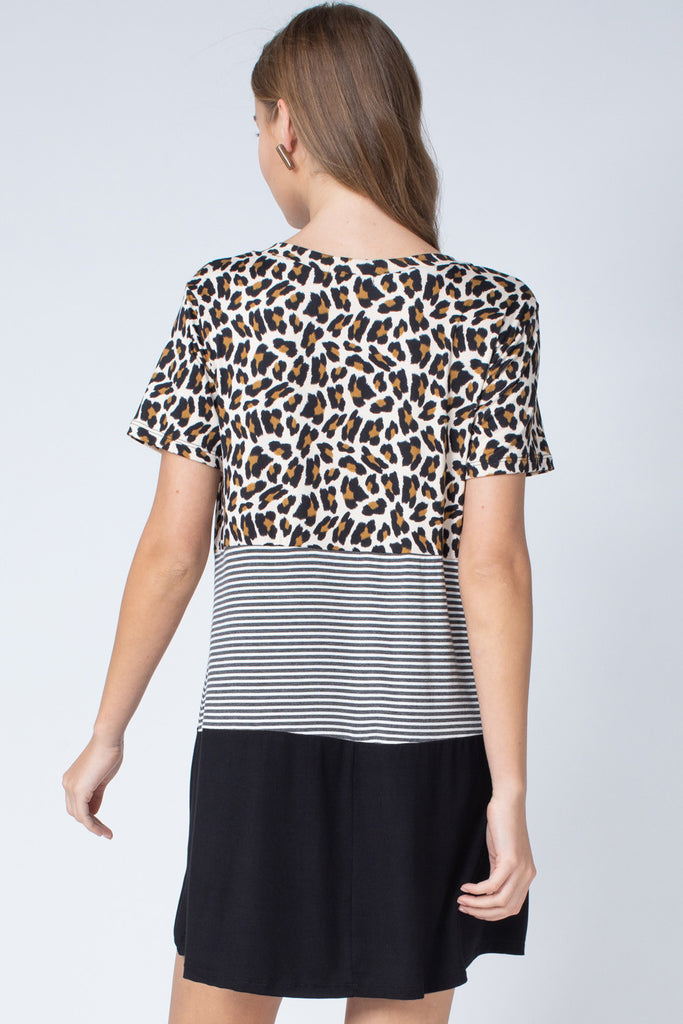 Leopard Colorblock Dress