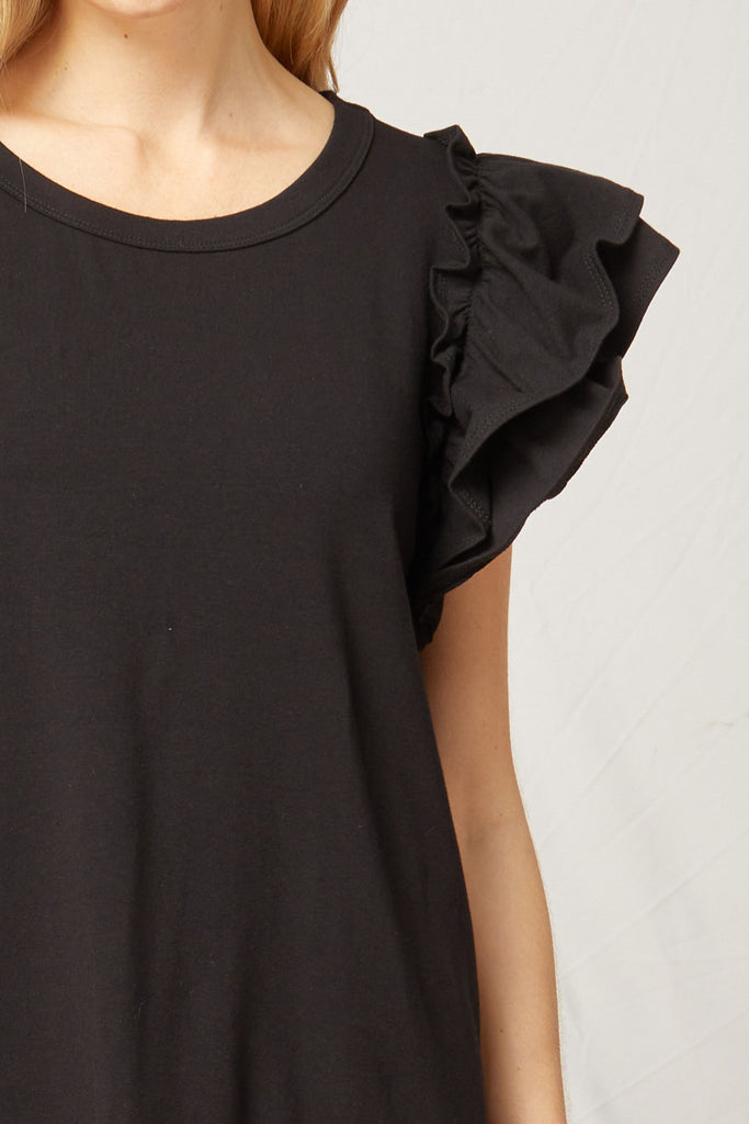 Black Ruffled Dress