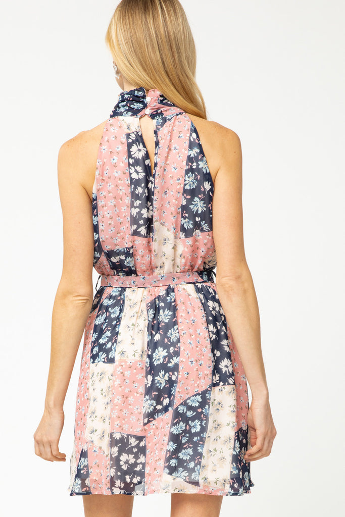 Blush Patchwork Dress