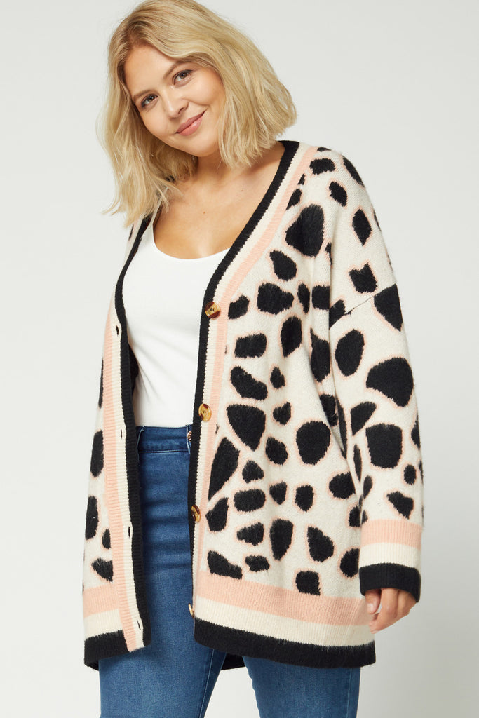 Blush Giraffe Cardigan