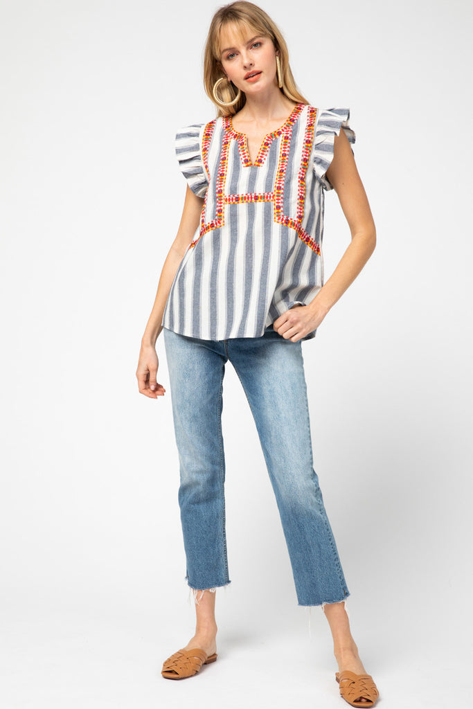 Serape Striped Top