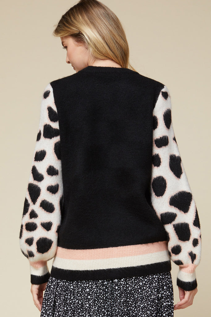 Giraffe Sleeve Sweater