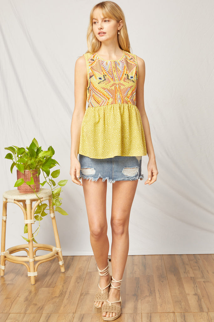 Goldie Embroidered Top