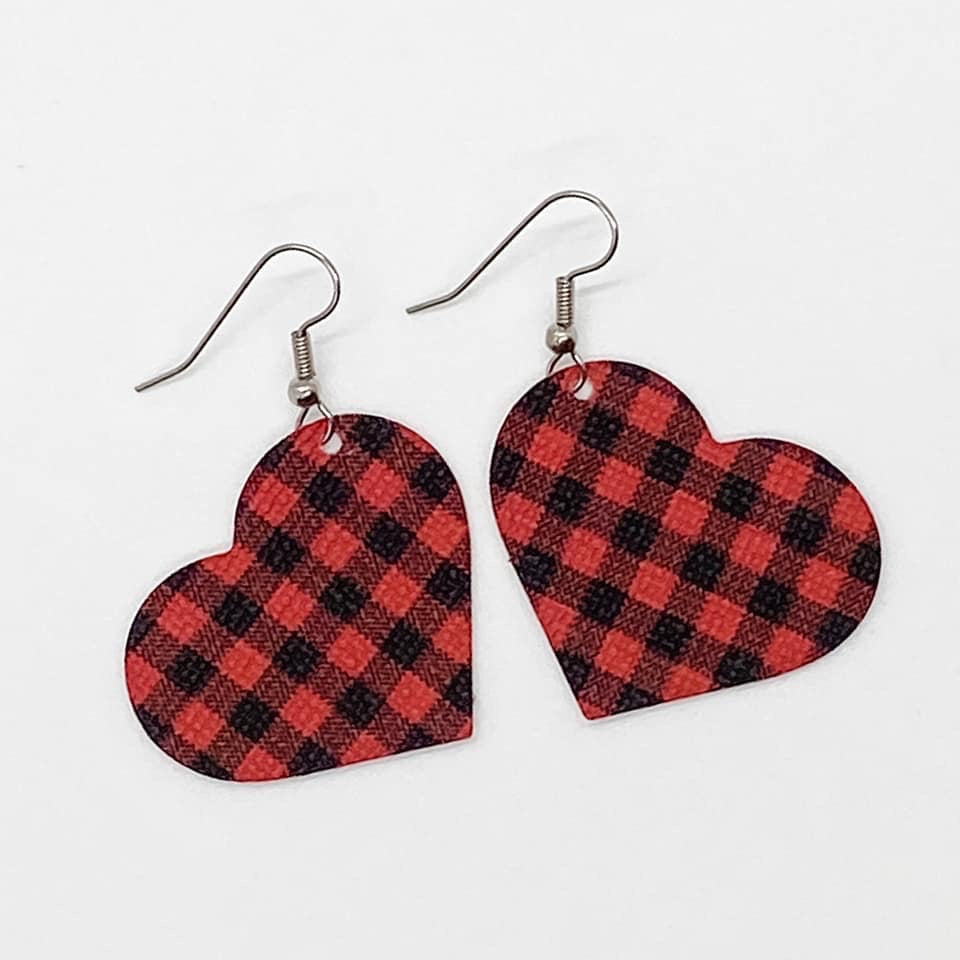 "1.5"" Heart Earrings"