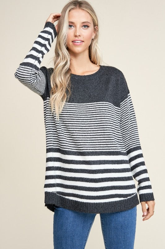 Block Striped Sweater, 2 Colors