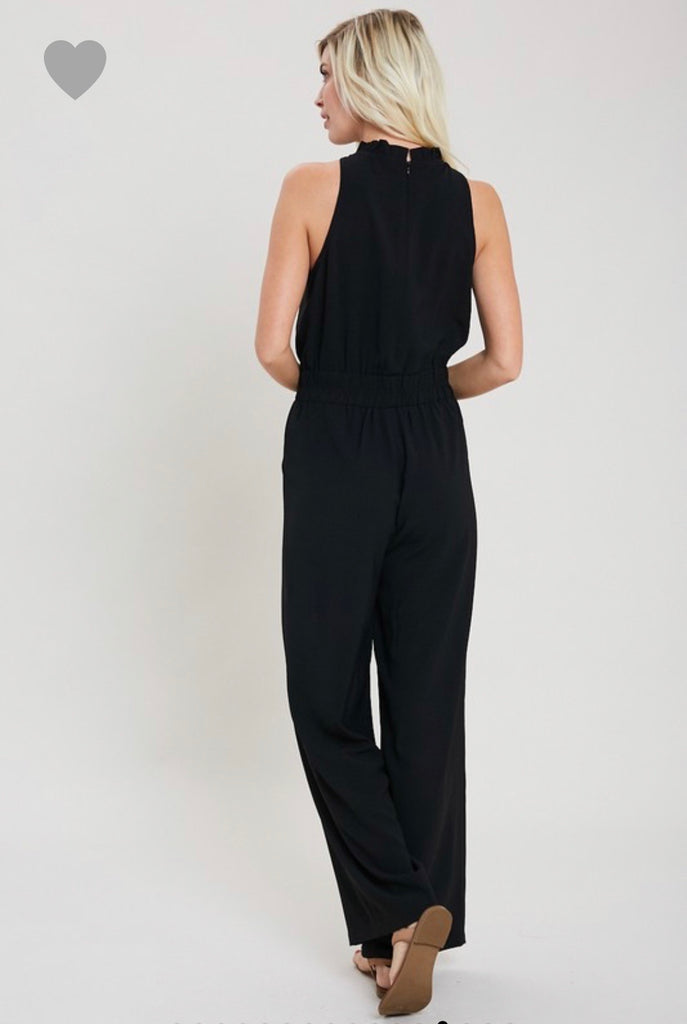 Mock Neck Jumpsuit, 2 Colors