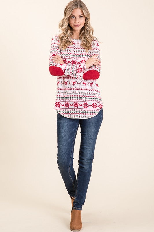 Poinsettias Sweater