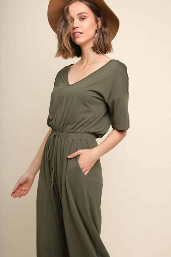 Olive Knit Rompers