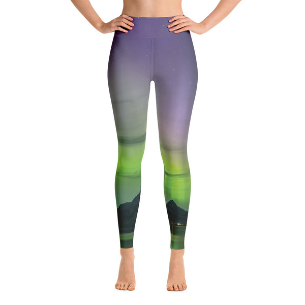 Purple Aurora Aura Yoga Leggings