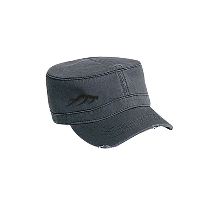 Women's Military Hat - Charcoal Grey