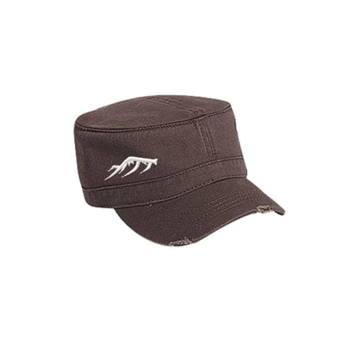 Women's Military Hat - Oak Brown