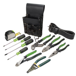 Greenlee 0159-13 Electrician's Tool Kit, 12 pc
