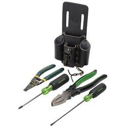 Greenlee 0159-14 5 Piece Electricians Starter Tool Kit