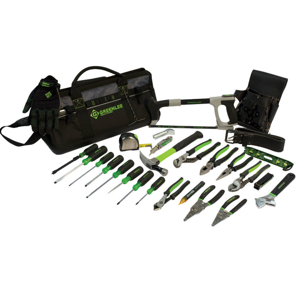 "Greenlee 0159-28MULTI 28 Piece 20"" Multi-Pocket Heavy-Duty Tool Bag Kit"