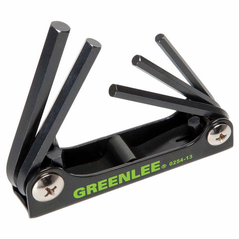 Greenlee 0254-13 5 Piece Folding Hex-Key Wrench Set