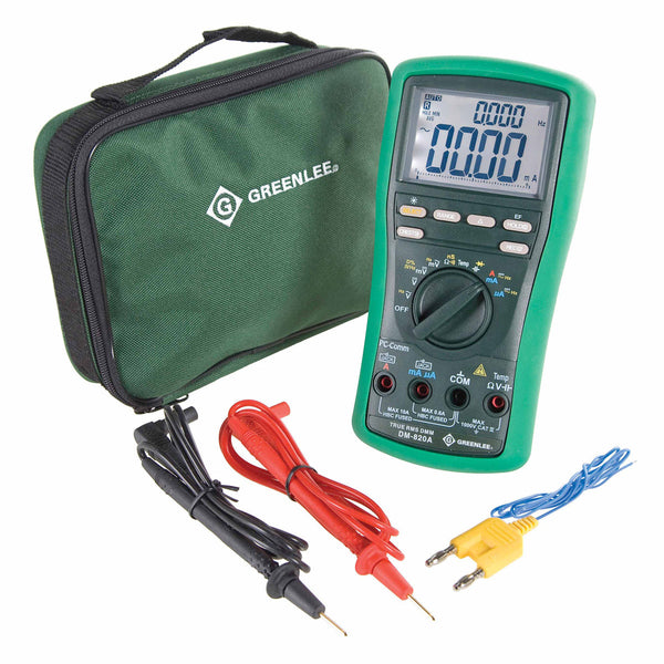 Greenlee DM-820A True RMS Digital Multimeter