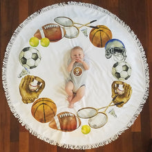 Sports -  Baby Milestone Blanket & Matching Sticker GIFT SET
