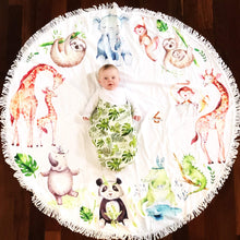 Jungle Animals -Baby Milestone Blanket Gift Set